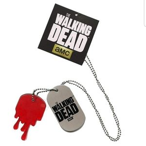TWD metal dog tag Dripping Blood